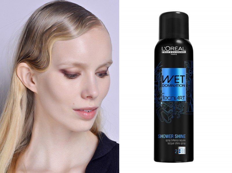 capelli-biondi-acconciature-Onde-anni-20-loreal-professionnel-wet-domination-shower-shine