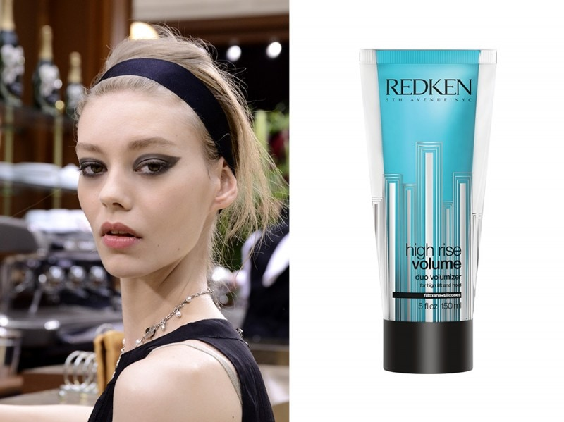 capelli-biondi-acconciature-Raccolto-messy-chic-redken-high-rise-volume