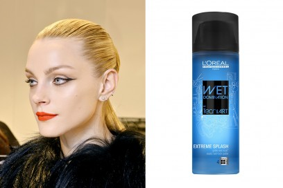 capelli-biondi-acconciature-Sleek-hair-loreal-professionnel-wet-domination-extreme-splash