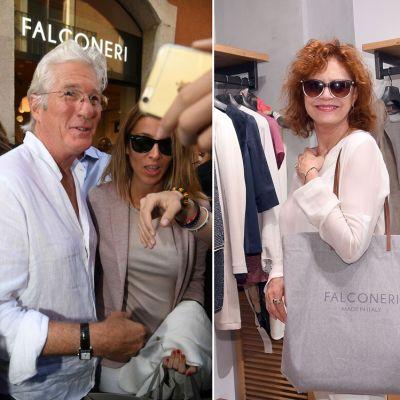 Da Richard Gere a Susan Sarandon: le star fanno shopping da Falconeri