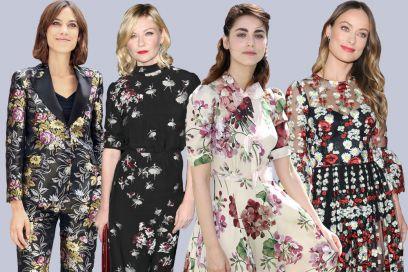Fantasie floreali: come le indossano le star di Hollywood