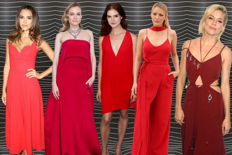Le star si vestono di rosso: scoprite i loro look