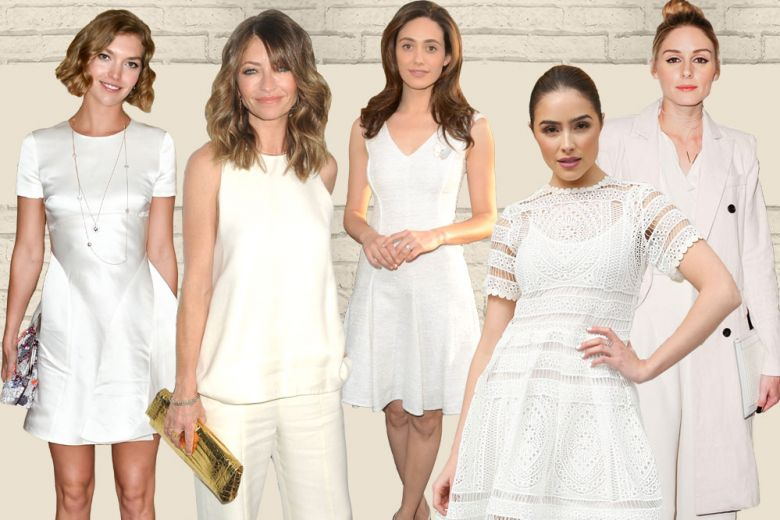 Total white: il look delle star per l'estate