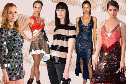Strass e paillettes: i look brillanti indossati dalle star