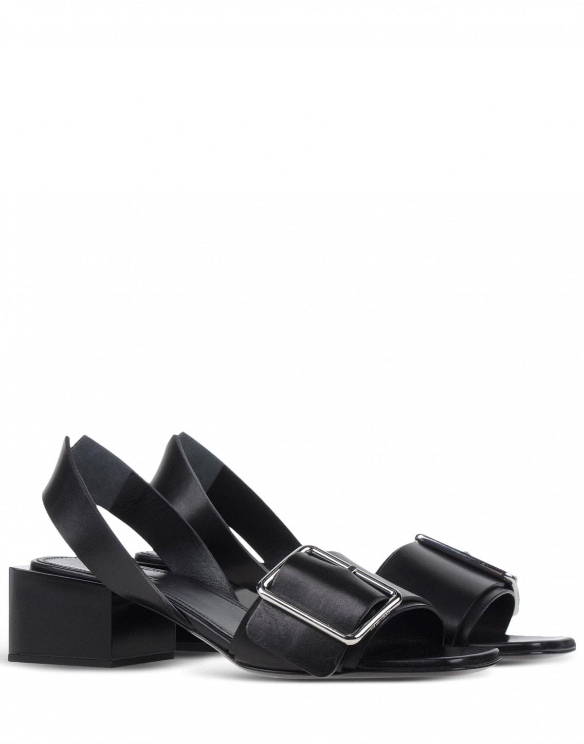 jil sander sandali tacco basso