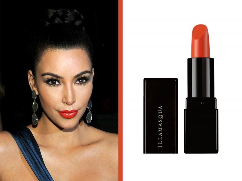 rossetto-arancione-a-chi-sta-bene-Kim-kardashian-illamasqua-lipstick-flare