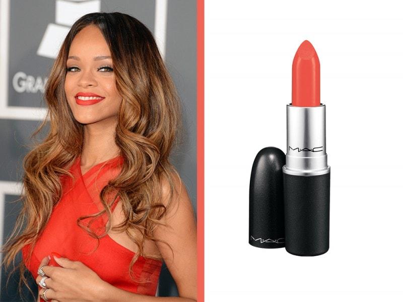rossetto-arancione-a-chi-sta-bene-Rihanna-mac-cosmetics-lipstick-morange