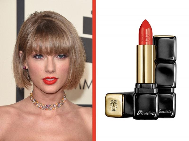 rossetto-arancione-a-chi-sta-bene-guerlain-kiss-kiss-orange-fizz-Taylor-swift
