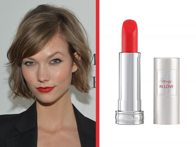 rossetto-arancione-a-chi-sta-bene-lancome-rouge-in-love-crazy-tangerine-karlie-Kloss