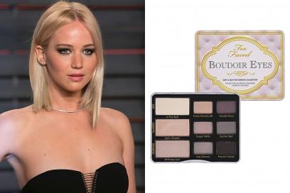 trucco occhi azzurri sera Jennifer Lawrence