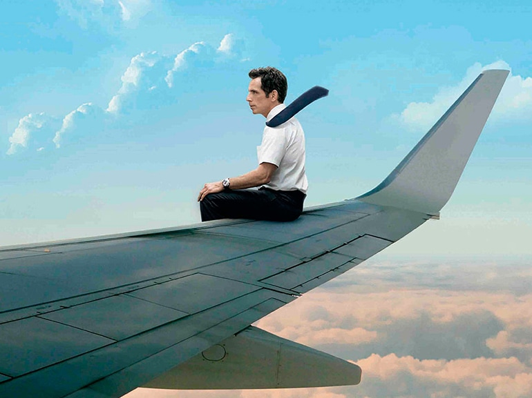 walter mitty aereo poster