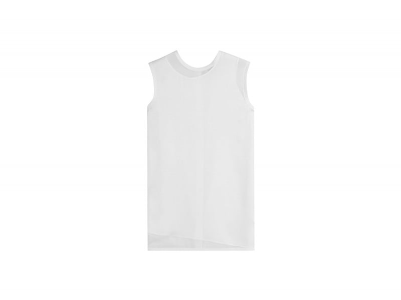 DKNY top seta bianco