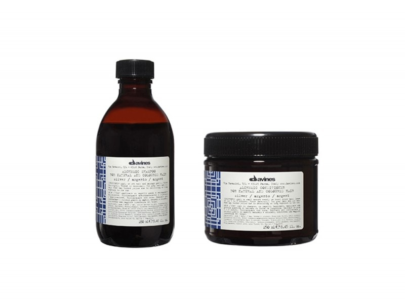 Davines Alchemic Shampoo and Conditioner in Silver