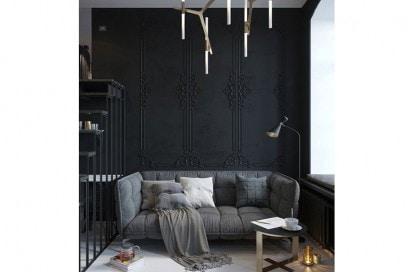 Muro decorato nero