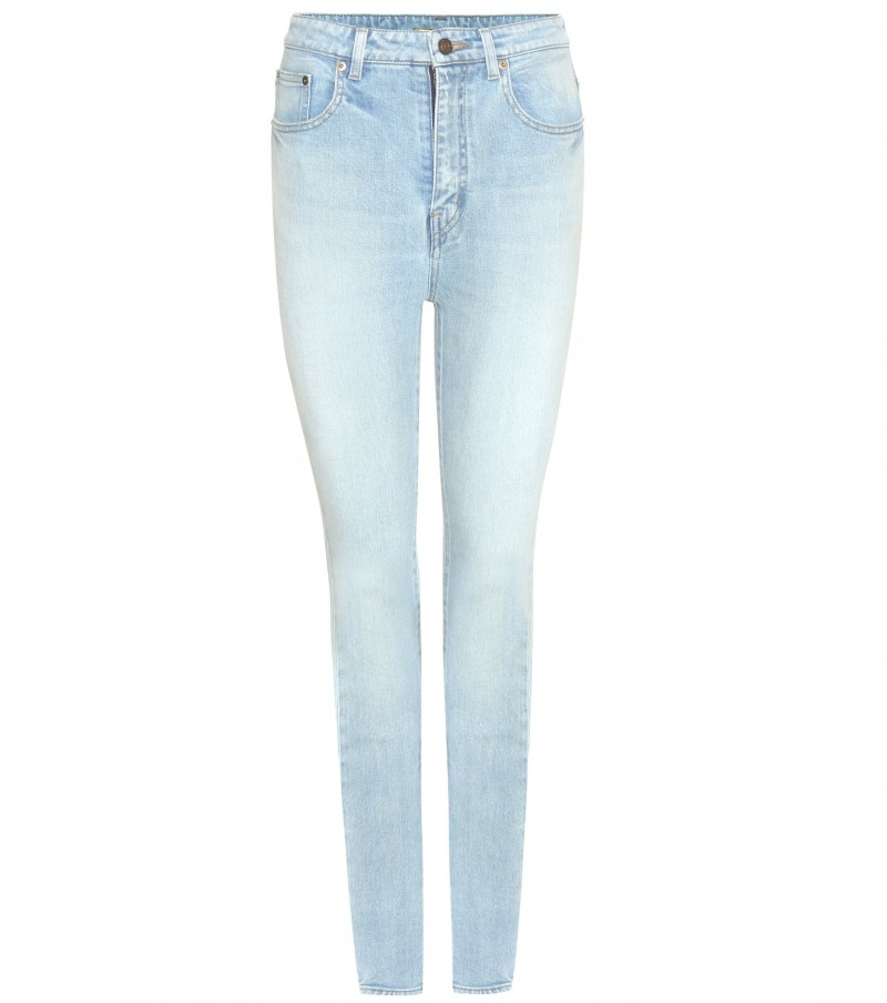 SAINT LAURENT JEANS vita alta