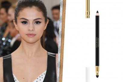 Selena Gomez trucco occhi marroni da sera
