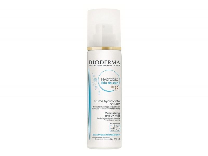 abbronzatura-viso-consigli-bioderma-Hydrabio-Eau-De-Soin-SPF30