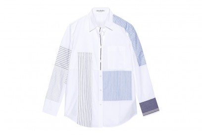 acne studios camicia patchwork righe