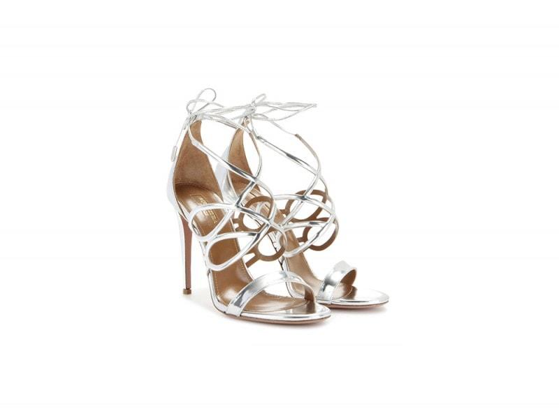 aquazzurra sandali argento