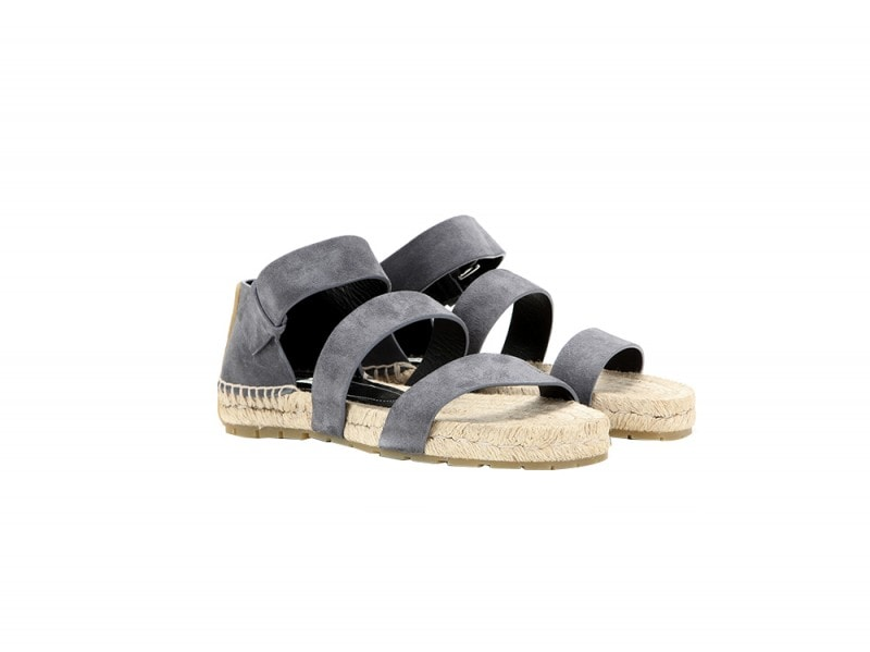 balenciaga sandali suede paglia