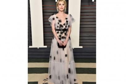 emma roberts abito Yanina Couture oscar 2016