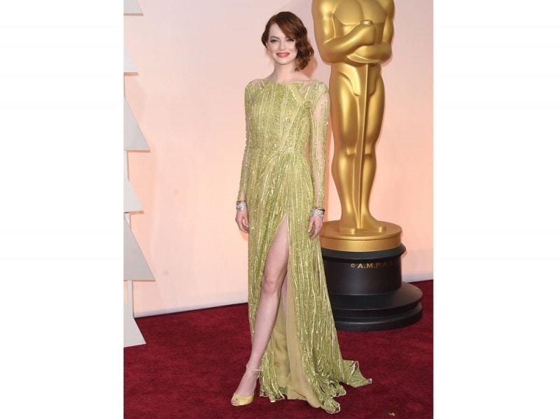 emma stone oscar 2015 elie saab couture