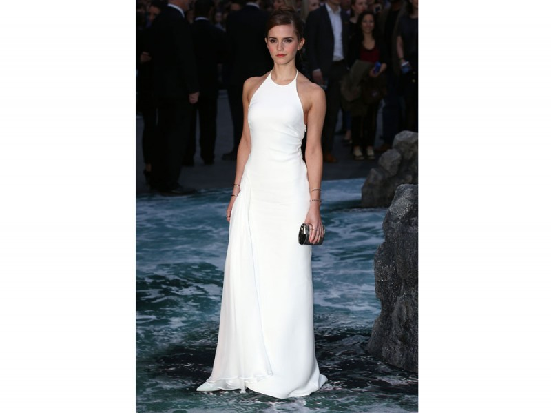 emma watson longdress bianco ralph lauren collection