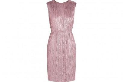 gucci abito rosa corto metal