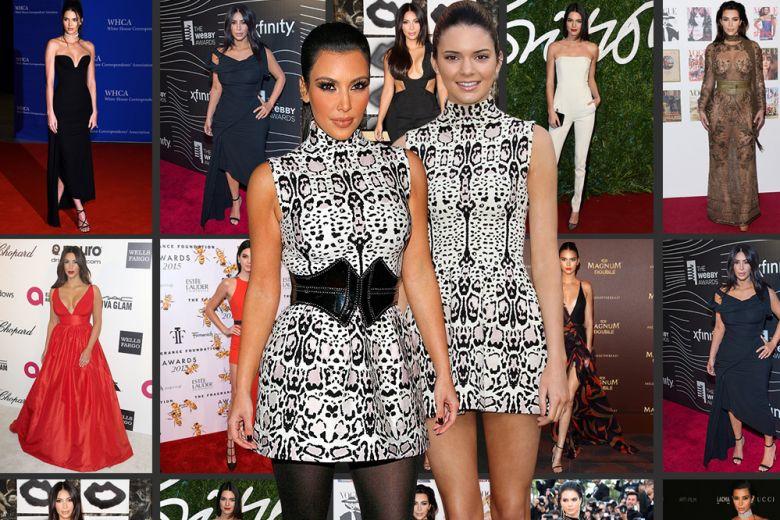 Kim Kardashian e Kendall Jenner: i look a confronto
