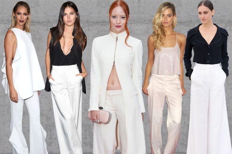 Pantaloni bianchi: ecco come li indossano le star