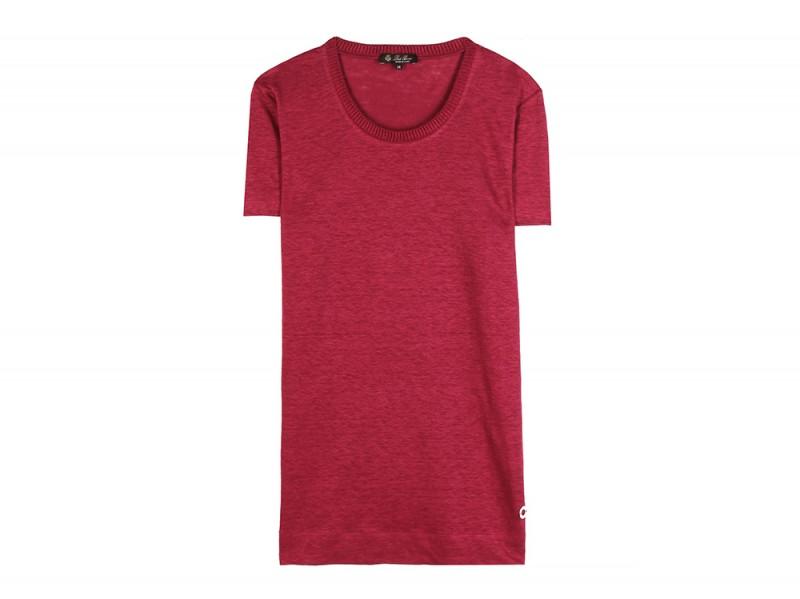 loro piana tshirt lino rosso