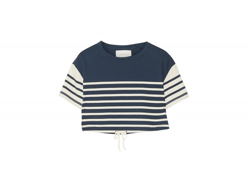 solid and striped cotton top