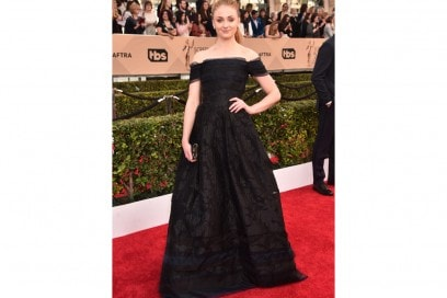 sophie turner in carolina herrera screen actor getty