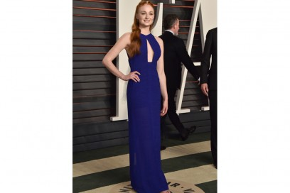 sophie turner oscar party abito galvan getty