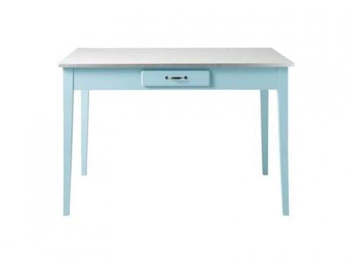 Tavoli Sala Da Pranzo In Legno : Tavolo blu per sala da pranzo in legno cucina vintage accessori