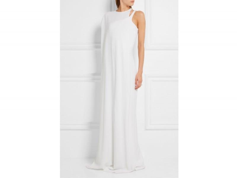 abito-bianco-lungo-calvin-klein net a porter