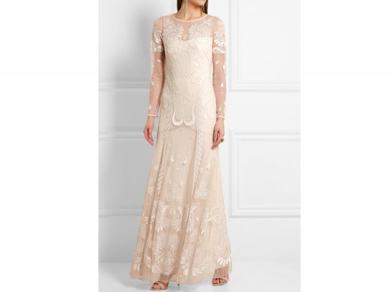 abito sposa rosa temperley london net a porter