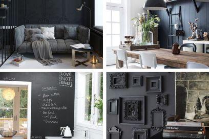 L'eleganza delle pareti nere