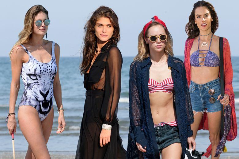 """Star """"on the beach"""": come si vestono le celebrities al mare"""