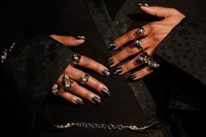 nail art nera autunno 2016