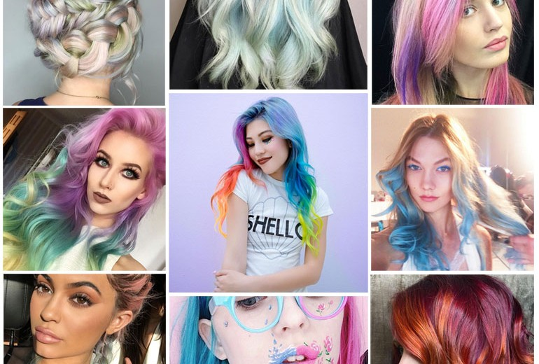 Rainbow Hair: la tendenza capelli da Instagram alle star