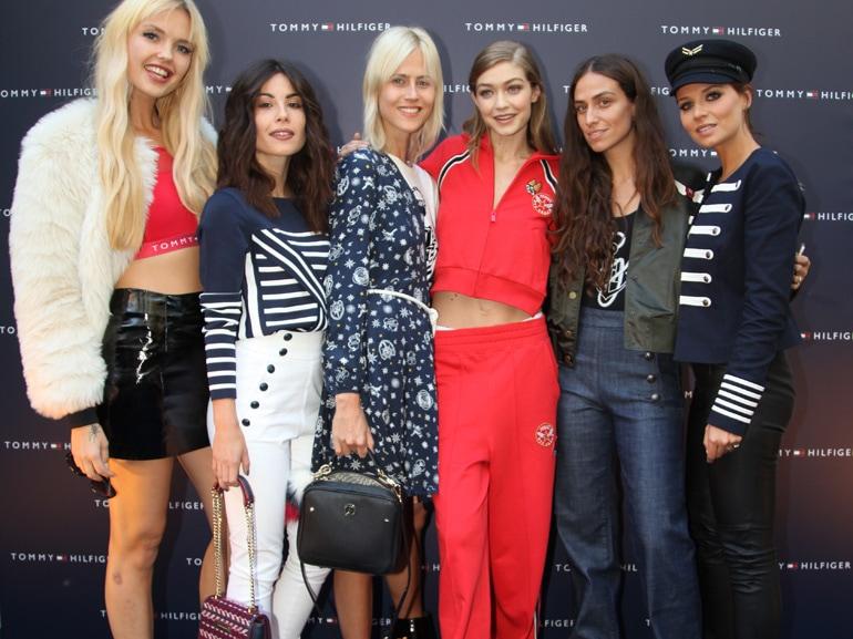 Bonnie-Strange,-Valentina-Marzullo,-Linda-Tol,-Gigi-Hadid,-Erika-Boldrin,-Veronica-Ferrario-all-in-TommyXGigi