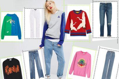 Come abbinare felpe e jeans per l'autunno 2016