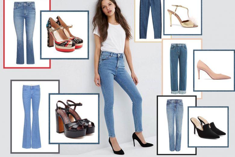 Scarpe con tacco e jeans: 10 idee