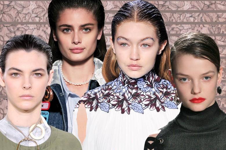 Capelli sleek: i migliori hair look dell'Autunno-Inverno 2016/17