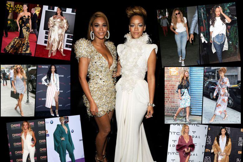 Beyoncé Vs Rihanna: lo stile delle regine del pop, a confronto