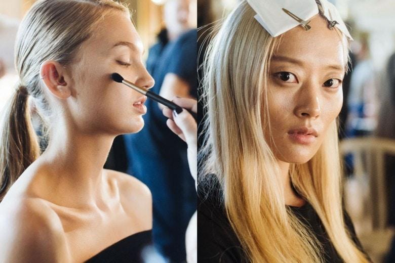 Lanvin Primavera Estate 2017: nude look luminoso nel backstage beauty