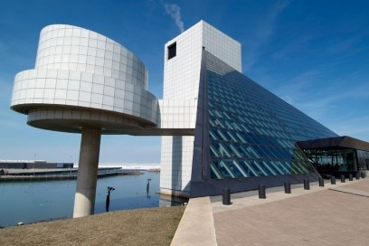 Rock and Roll Hall of Fame Downtown Cleveland Ohio sightseeing landmarks and tourist attractions