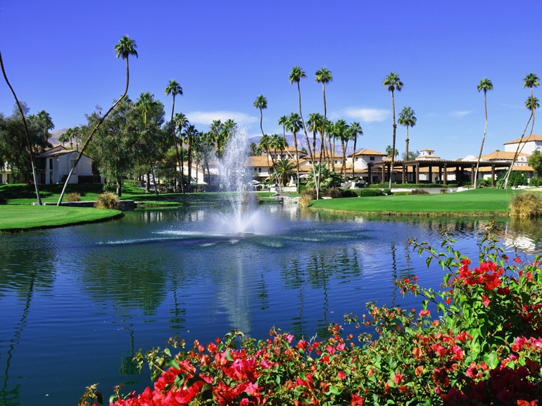 View of Golf Resort in Palm Springs California; Shutterstock ID 64435084