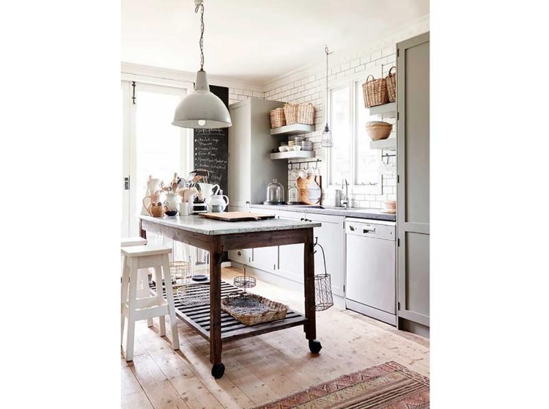 Piano cucina legno grezzo tavolo moderno in legno - Cucine in legno grezzo ...